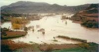 Cauce del Segre inundado 1982