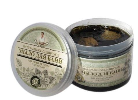 Babuszka Agafii naturalne syberyjskie czarne mydło do ciała i włosów