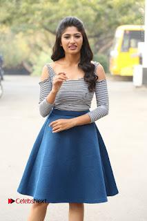 Telugu Actress Roshini Prakash Stills Short Dress at Saptagiri Express Release Press Meet  0078.JPG
