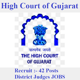 High Court of Gujarat, HIgh Court, Gujarat, District Judge, Graduation, freejobalert, Sarkari Naukri, Latest Jobs, gujarat hc logo