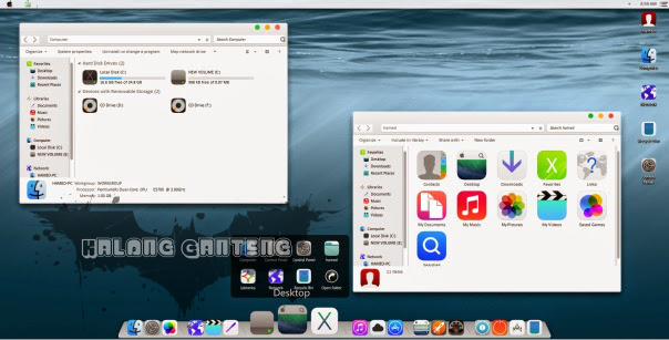 Screenshot Tema iOS8 Skin Pack Windows 7