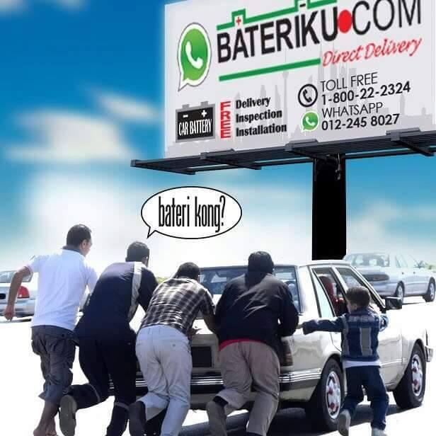 Bateri kereta kong di Seremban, jangan risau bateriku.com ada