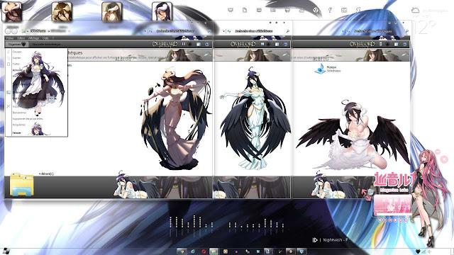 "Windows 7 Theme Overlord ""Albedo"" V2 by Andrea_37"