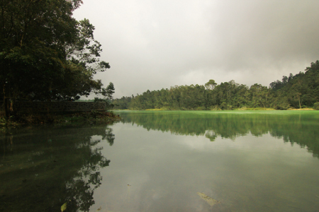 Wisata Telaga Warna di Dieng Jawa Tengah