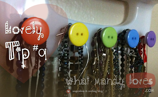 Lovely Tip #9: Add Buttons to a Jewelry Display (July's Jewelry Theme) via www.whatmandyloves.com
