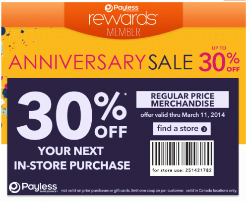 Payless Shoes Coupons May