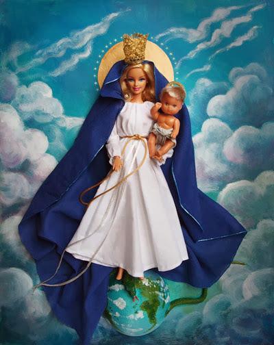 Barbie Virgem Maria -  Réplica de Jocelyne Grivaud