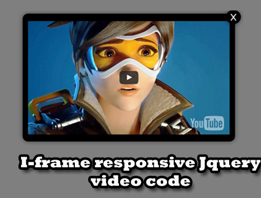 Video Popup Jquery responsive Iframe