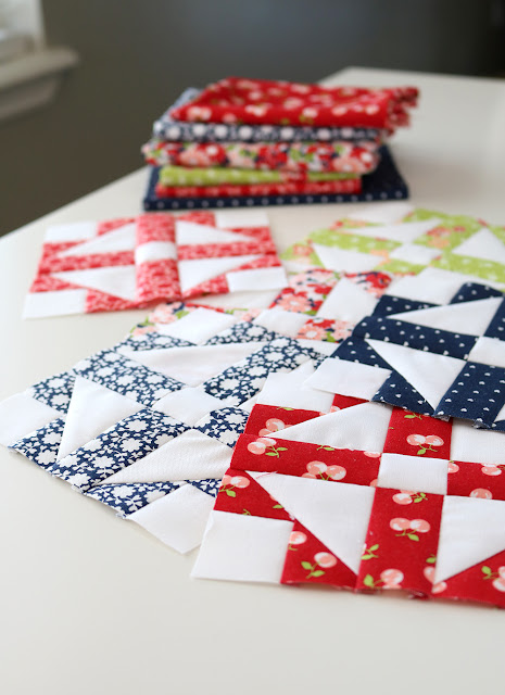 Patchwork Quilt Along free block pattern - cute block called Grandmother's Choice