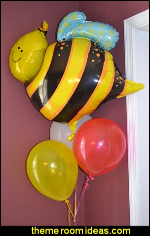 Bumblebee Mylar Balloon  bee themed party - bumble bee decorations - Bumble Bee Party Supplies - bumble bee themed party - Pooh themed birthday party - spring themed party - bee themed party decorations - bee themed table decorations - winnie the pooh party decorations - Bumblebee Balloon -  bumble bee costumes