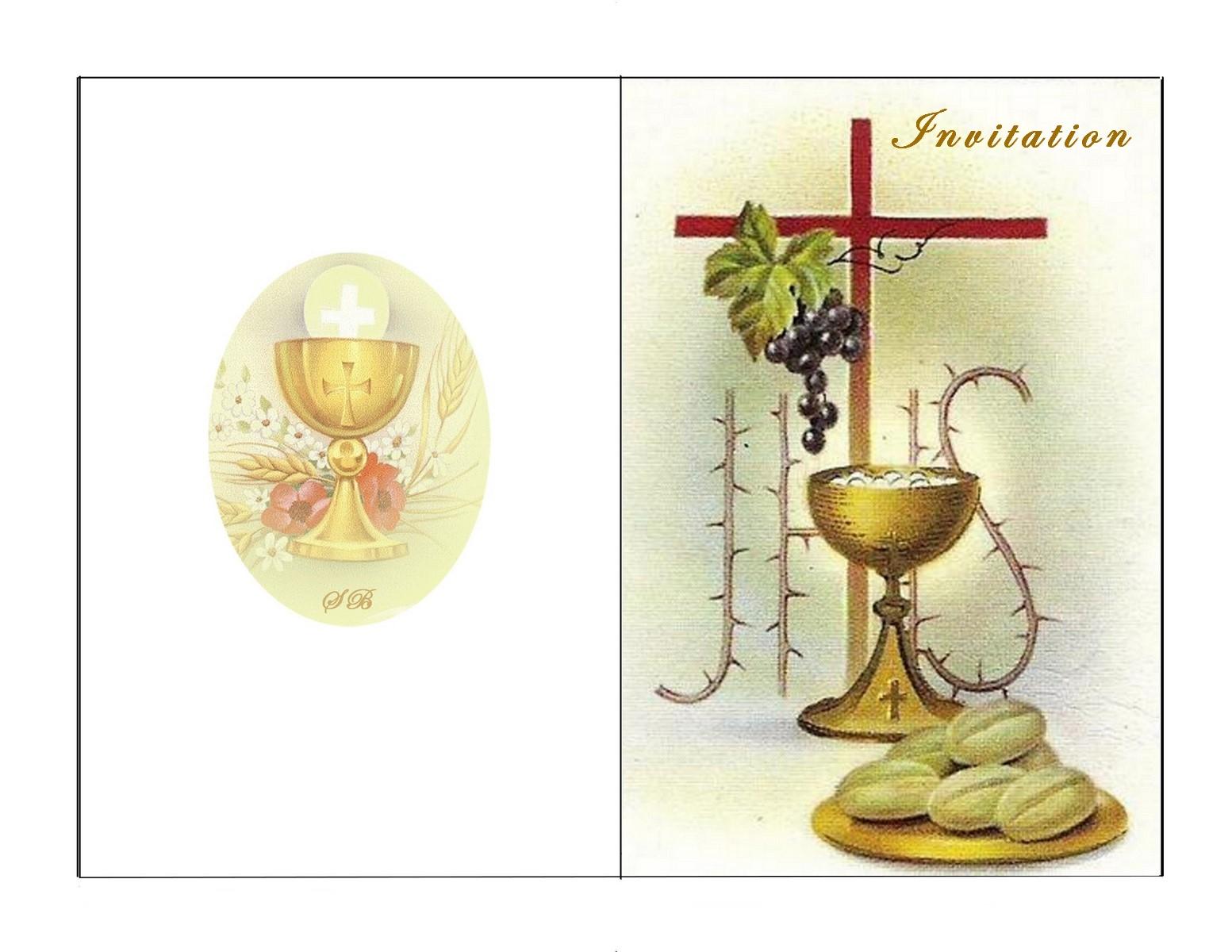 carte communion gratuite à imprimer CARTE INVITATION IMPRIMER GRATUIT: Carte invitation Première