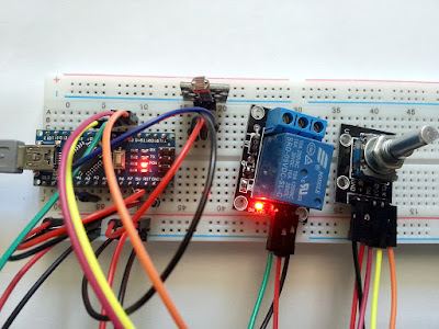 Light or dark activated switch using Arduino
