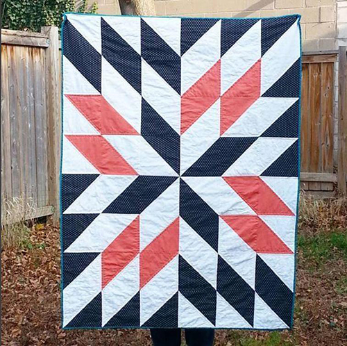 Star Gazing Quilt free Pattern Designed by Britney Walsh of Soft Day Quilt