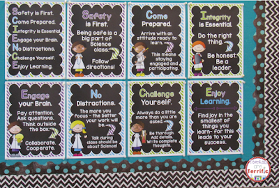 Add a motivational poster set to your science bulletin board! These posters can double as your lab rules!