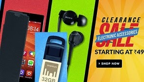Clearance Sale on Mobile & Computer Accessories: Min 50% upto 80% Off @ Flipkart