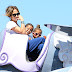 Jennifer Lopez with children at Disneyland