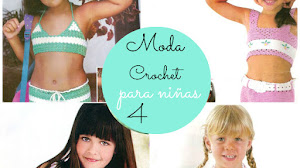 4 Blusas con faldas Crochet para Niñas / patrones