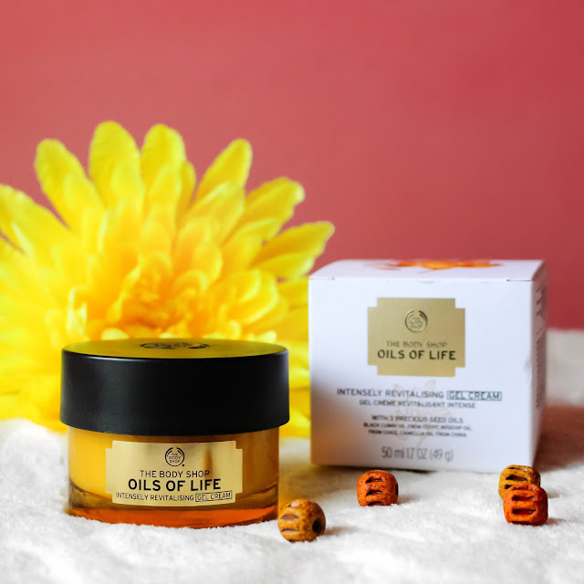 review the body shop oils of life intensely revitalising gel cream