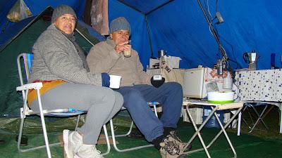 acampando no Chez Bruna