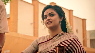 Keerthy Suresh in Saree with Cute Smile in Mahanati 1