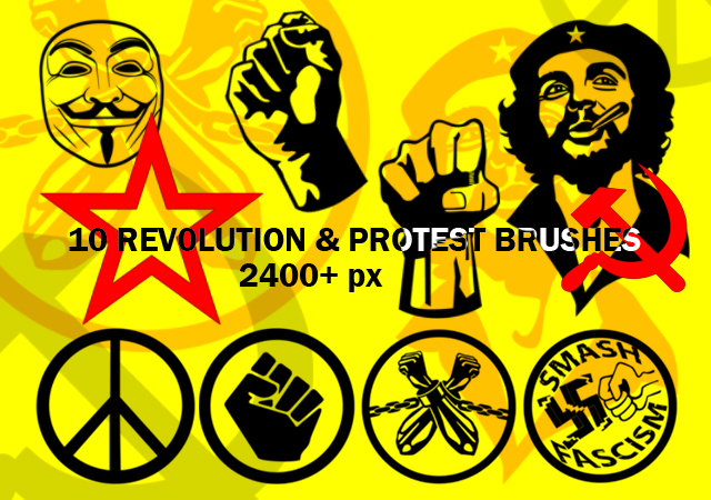 Protest and Revolution Brushes