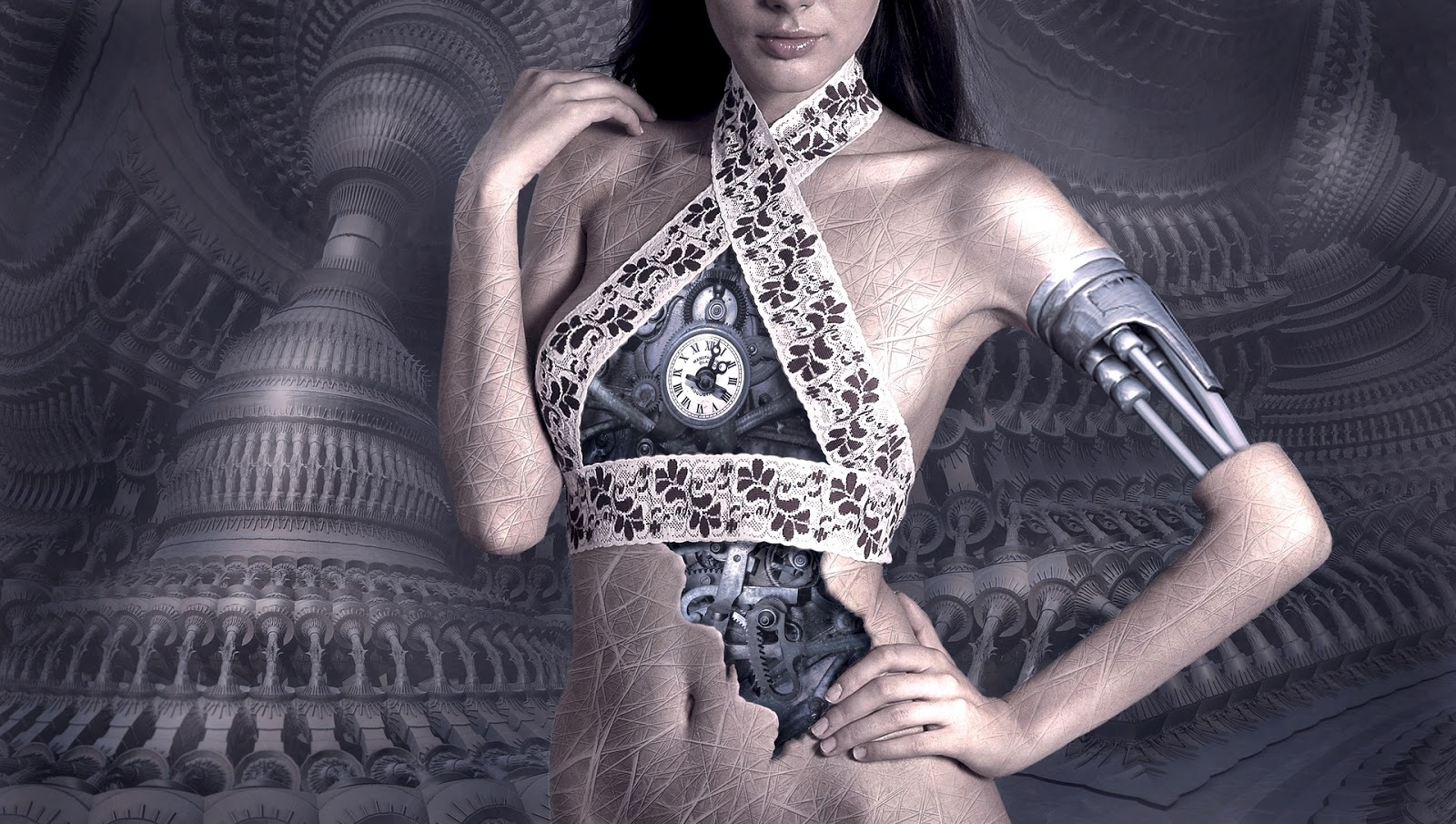 Robotic woman. This is also a link to blog