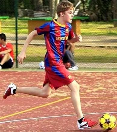 Foto de Justin Bieber haciendo deporte