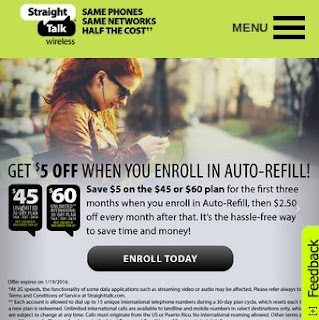 Straight Talk Get $5 Off When You Enroll in Auto-Refill