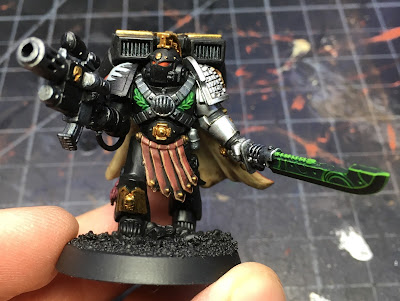 Deathwatch Watch Captain with Jump Pack WIP - front