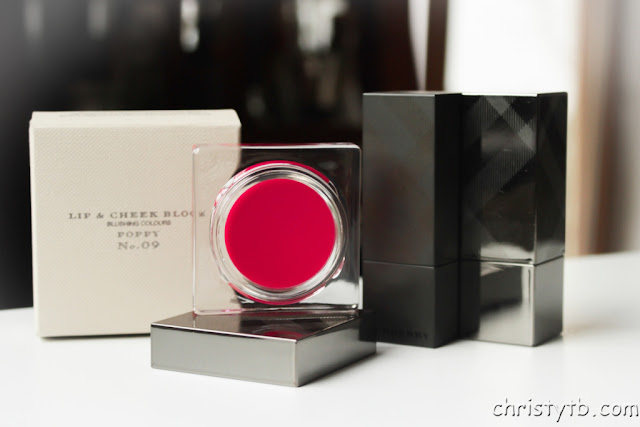 Красные румяна BURBERRY Lip & Cheek Bloom POPPY No. 09