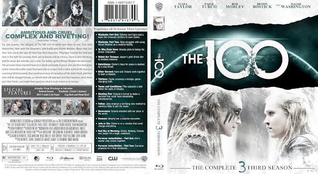 The 100 Season 3 Bluray Cover