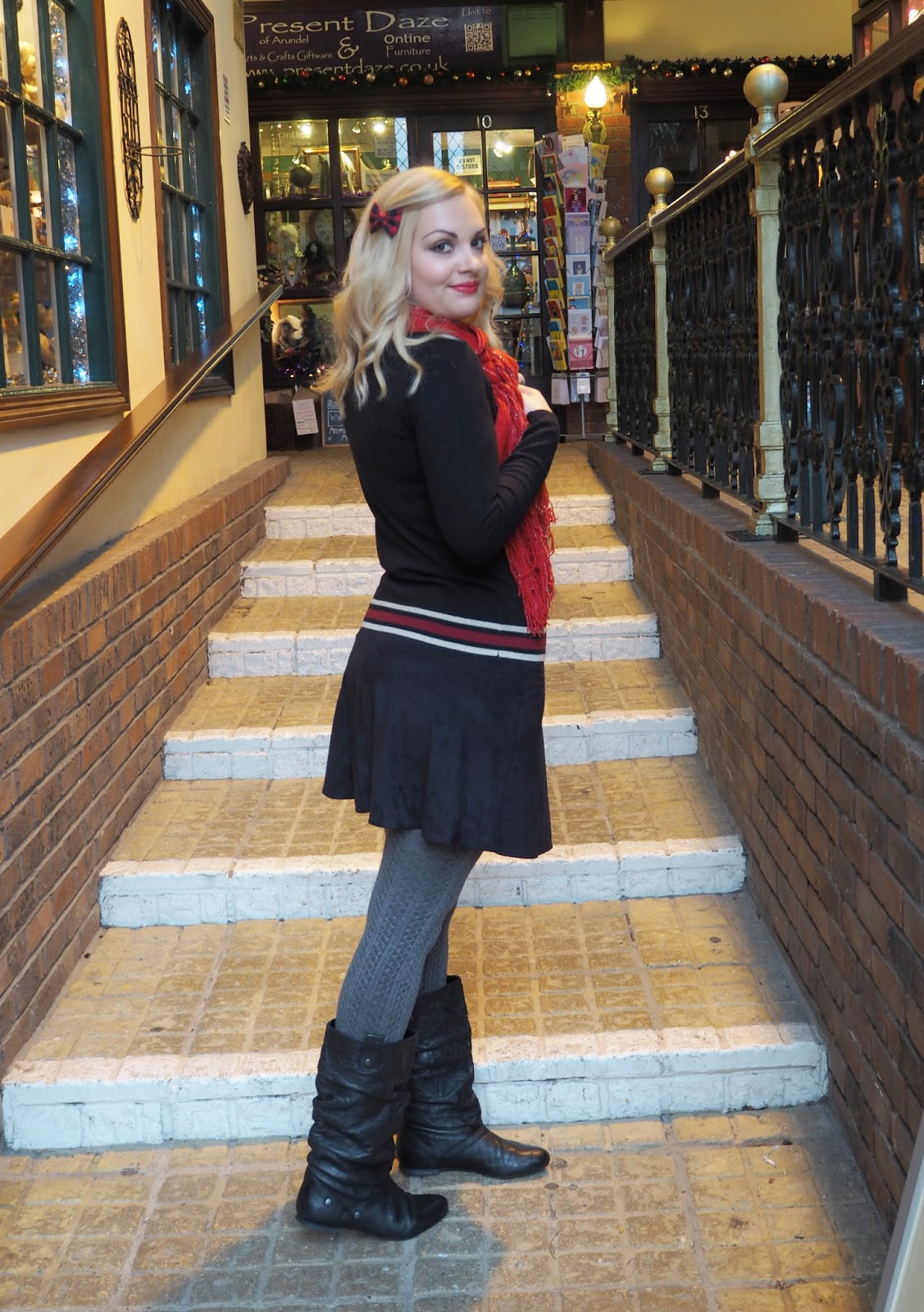 Outfit: Wrapped In Red, Yumi Hedgehog Jumper | Katie Kirk Loves