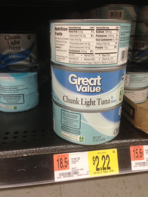 Chunk Light Tuna, Great Value, 12 oz - Walmart