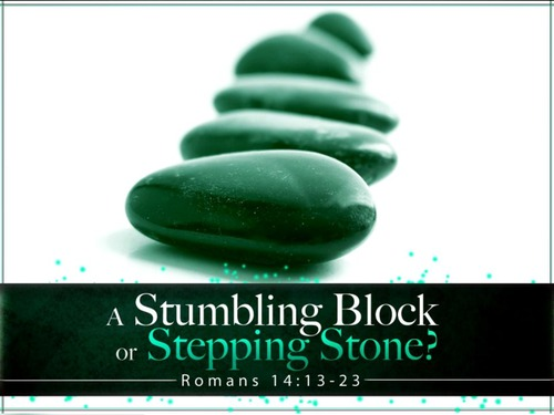 put a stumbling block in your path
