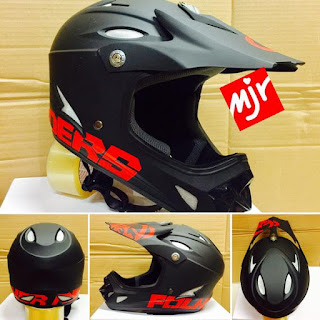 Helm Full Face Folker 900 Grams Hitam
