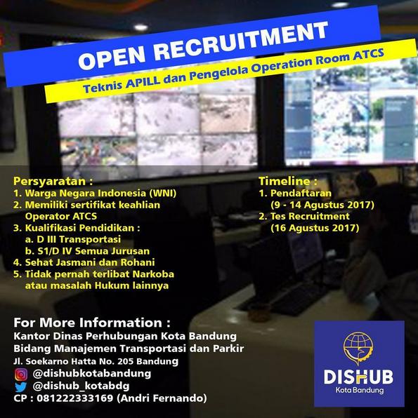 Lowongan Kerja Dishub Kota Bandung