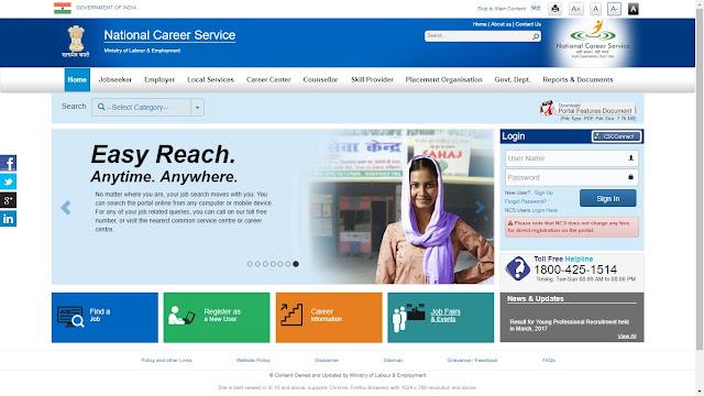 National Career Service (NCS) Portal