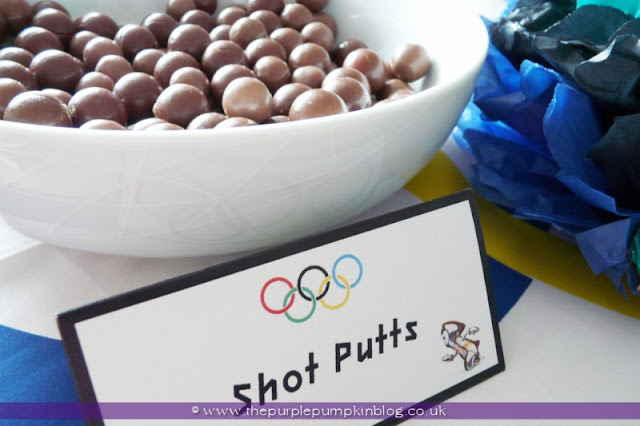 Chocolate Shot Putts for an #Olympics Party at The Purple Pumpkin Blog