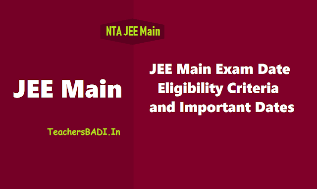 JEE Main 2020 Exam date, Eligibility criteria and Important dates