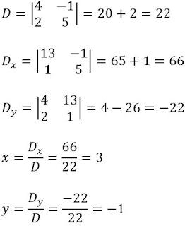 Contoh Soal Determinan Matriks