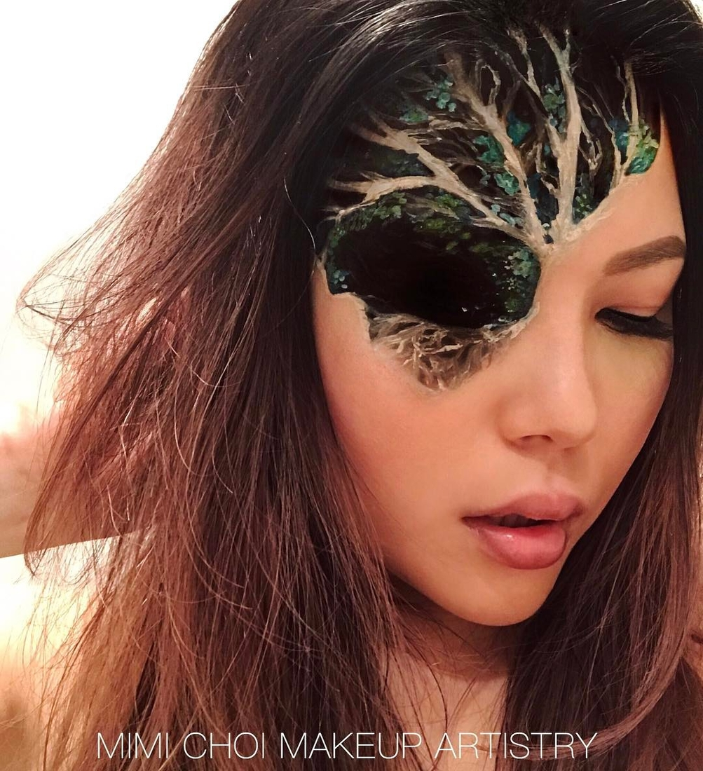 14-Tree-Creep-Mimi-Choi-aka-mimles-Body-Painting-Many-Examples-of-face-Makeup-Application-www-designstack-co