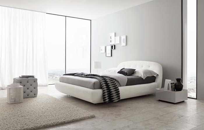 beyaz gri yatak odası modeli