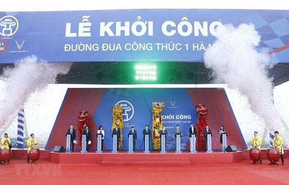 Công việc bắt đầu trên đường đua F1 ở Hà Nội