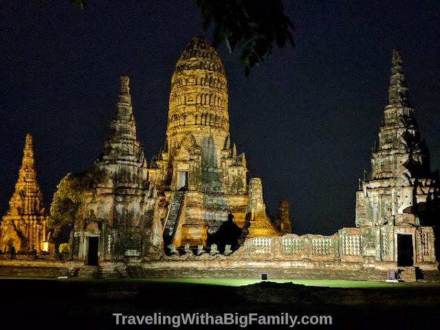 Visiting Ayutthaya Historical Park with a Big Family