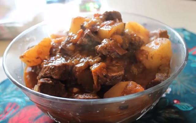 receta carne con papas