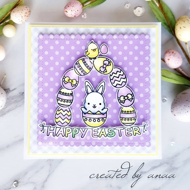 Sunny Studio Stamps: Chubby Bunny Customer Card by Ana A