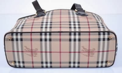 Burberry Haymarket Regent Classic Checked Tote Sold Color Chocolate Pix 1 Is The Correct