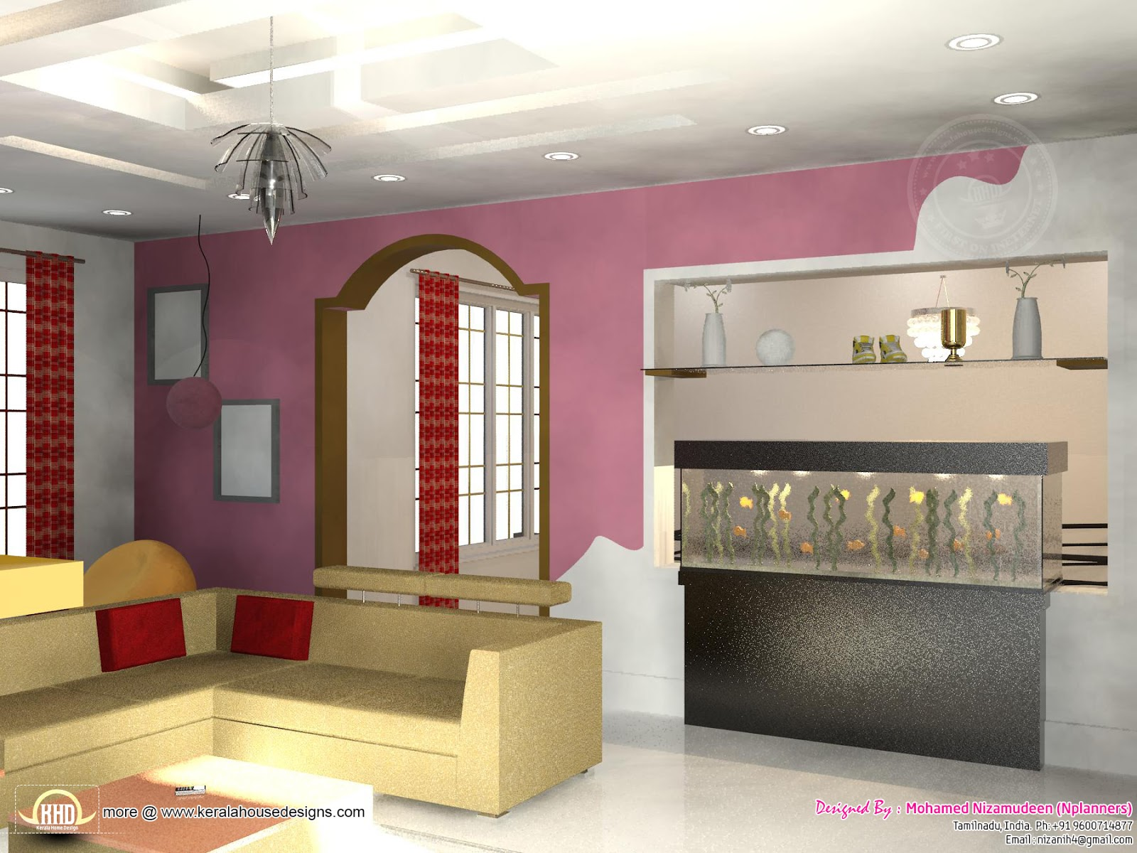 2334 sq-ft South Indian home design - Kerala home design ...