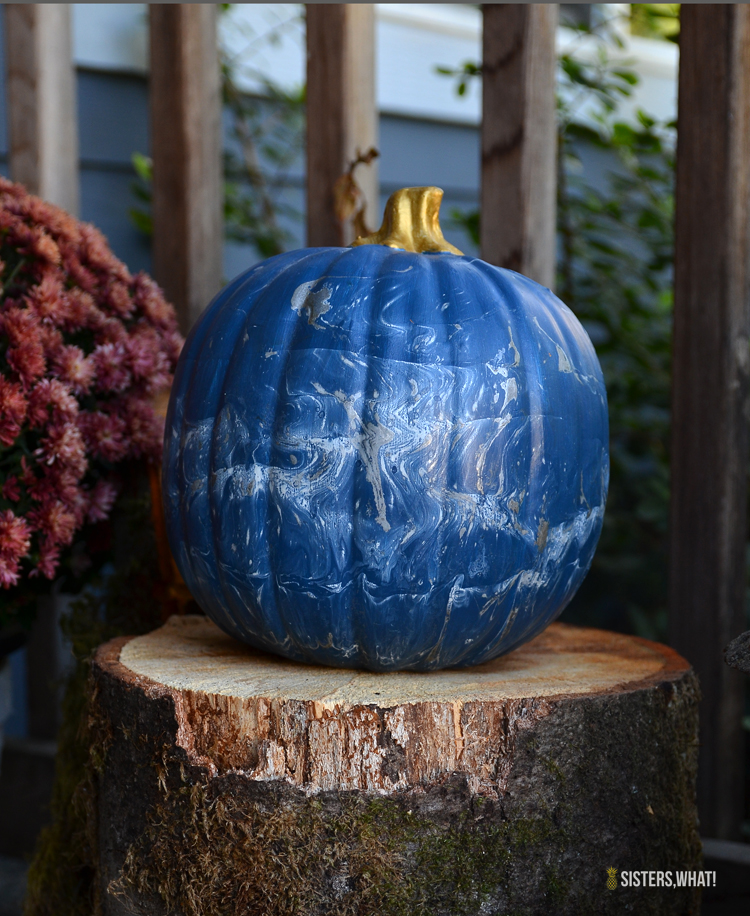 the perfect DIY pumpkin painting idea to use for pumpkin decorations