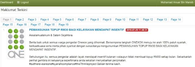 Pemansuhan TOPUP minimum RM30 bagi mendapatkan Insentif bulanan